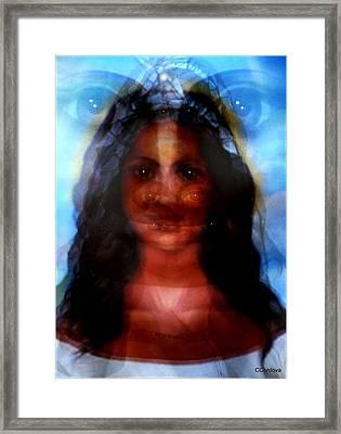 Yemaya -she Sees All Framed Print by Carmen Cordova