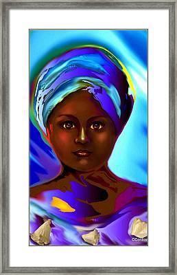 Yemaya -the Mother Goddess Framed Print by Carmen Cordova