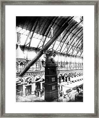 Yerkes 40-inch Refractor Telescope Framed Print by Sherburne W. Burnham, Yerkes Observatory, University Of Chicago, Courtesy Emilio Segre Visual Archives/american Institute Of Physics