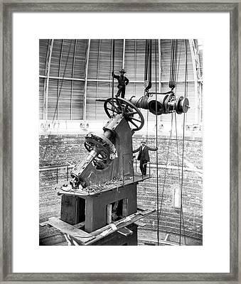 Yerkes 40-inch Refractor Telescope Framed Print by Yerkes Observatory, University Of Chicago, Courtesy Emilio Segre Visual Archives/american Institute Of Physics