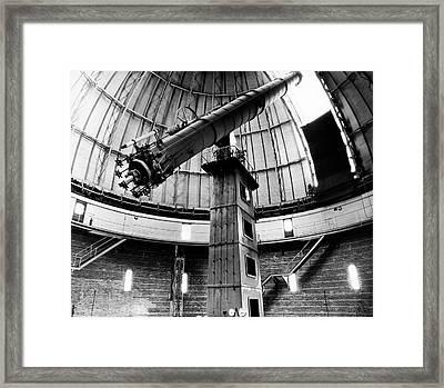 Yerkes 40-inch Refractor Framed Print by Yerkes Observatory, University Of Chicago, Courtesy Emilio Segre Visual Archives/american Institute Of Physics