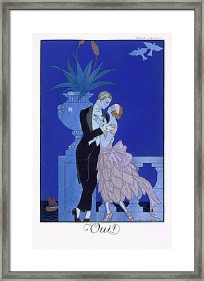 Yes Framed Print by Georges Barbier