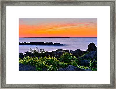 Yes Its Lake Erie Framed Print by Frozen in Time Fine Art Photography