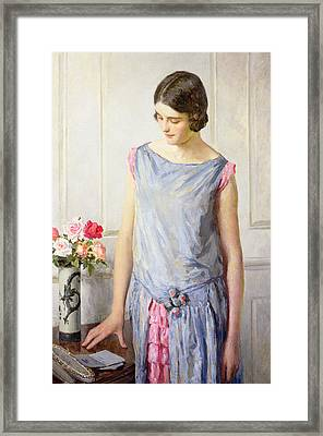 Yes Or No Framed Print by William Henry Margetson