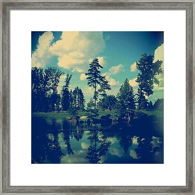 Yesterday Evening At The Lake Framed Print by Joy StClaire
