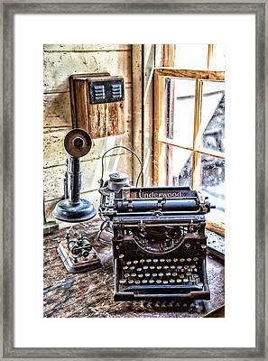 Yesterdays Communication Framed Print by Karol Livote