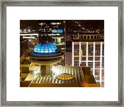 Yesterday's Future - Classic Atlanta Skyline Framed Print by Mark E Tisdale