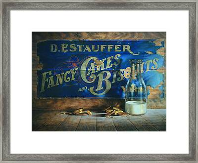 Yesterday's Milk And Cookies Framed Print by William Albanese Sr