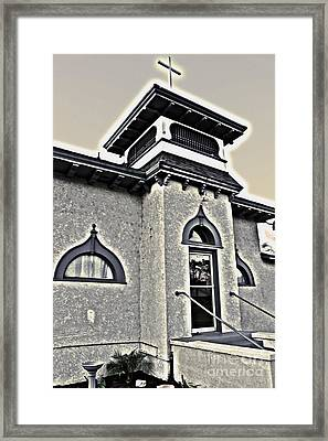 Yet Another Spooky Looking Church In Chino Framed Print by Gregory Dyer