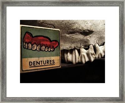 Yikes Framed Print by Sherry Dooley