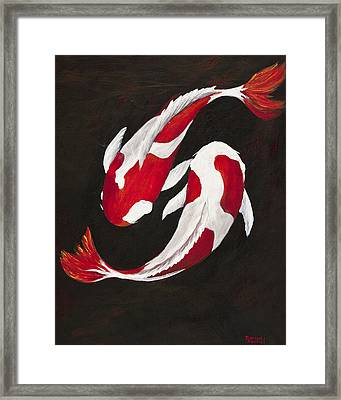 Yin And Yang Framed Print by Darice Machel McGuire