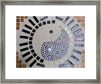 Yin And Yang Framed Print by Lisa Brandel