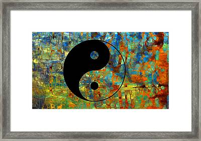 Yin Yang Abstract Framed Print by Dan Sproul
