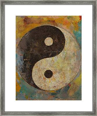 Yin Yang Framed Print by Michael Creese