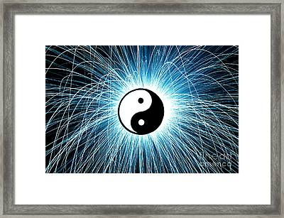 Yin Yang Framed Print by Tim Gainey