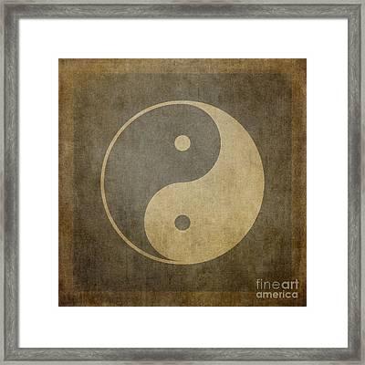 Yin Yang Vintage Framed Print by Jane Rix
