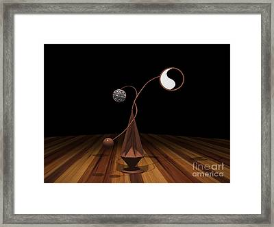 Ying And Yang Framed Print by Peter Piatt