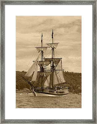 Yo Ho Lady Washington Framed Print by Kym Backland