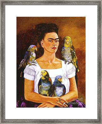 Yo Y Mis Pericos Framed Print by Pg Reproductions