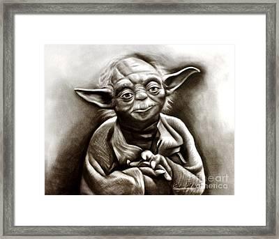 Yoda  Framed Print by Barbara  Rivera