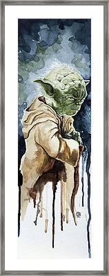 Yoda Framed Print by David Kraig