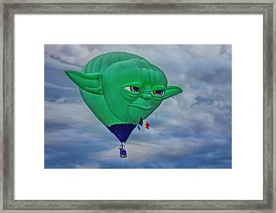 Yoda - Hot Air Balloon Framed Print by Nikolyn McDonald