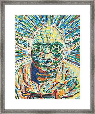 Yoda Framed Print by Jesse Quinn Mayorga