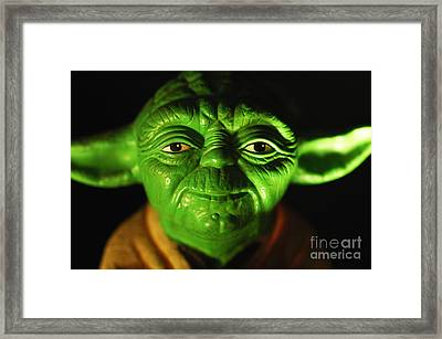 Yoda Framed Print by Micah May