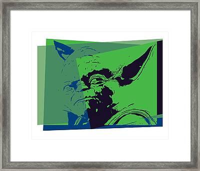 Yoda Pop Art Framed Print by Dan Sproul