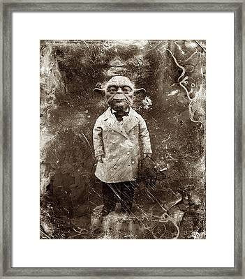 Yoda Star Wars Antique Photo Framed Print by Tony Rubino