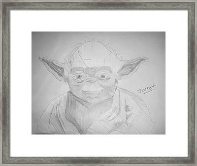 Yoda - Star Wars Framed Print by John Morris