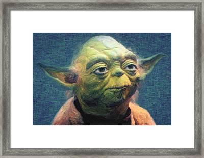 Yoda Framed Print by Taylan Apukovska