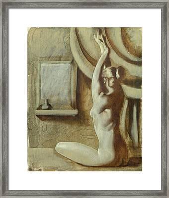 Yoga Girl Framed Print by Luis  Navarro