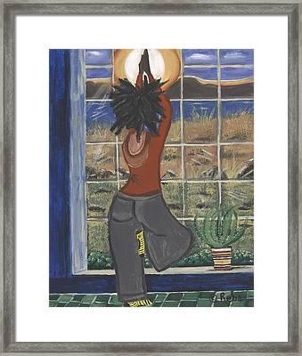 Yoga Framed Print by Reba Baptist