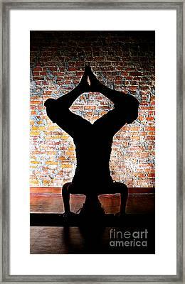 Yoga Silhouette 3 Framed Print by Shannon Beck-Coatney