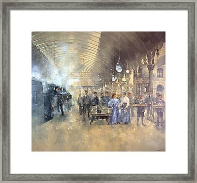 York Railway Station  Framed Print by Peter Miller