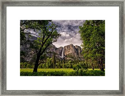 Yosemite Falls Framed Print by Cat Connor
