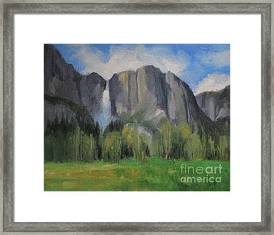 Yosemite Falls Spring Meadow  8 X 10 Framed Print by Karen Winters