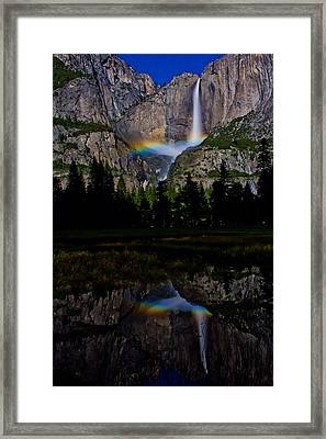 Yosemite Moonbow Framed Print by John McGraw