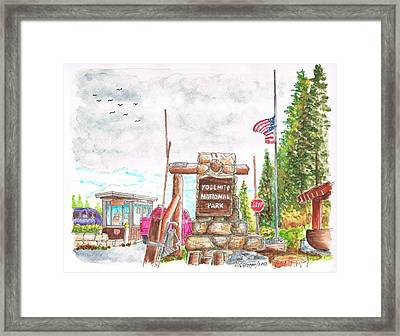 Yosemite National Park Ca-tioga Pass Entrance Framed Print by Carlos G Groppa