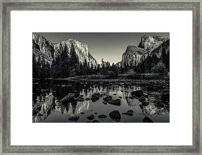 Yosemite National Park Valley View Reflection Framed Print by Scott McGuire