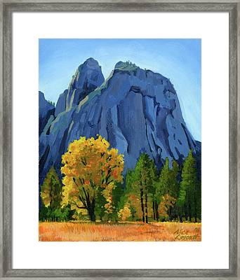 Yosemite Oaks Framed Print by Alice Leggett