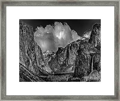 Yosemite Valley From Tunnel Framed Print by Bob and Nadine Johnston