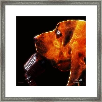You Ain't Nothing But A Hound Dog - Dark - Electric Framed Print by Wingsdomain Art and Photography