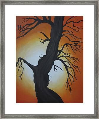 You And Me Framed Print by Alka  Malik