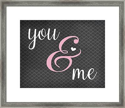 You And Me Framed Print by Tamara Robinson