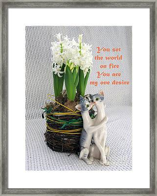 You Are My One Desire Framed Print by Ausra Huntington nee Paulauskaite