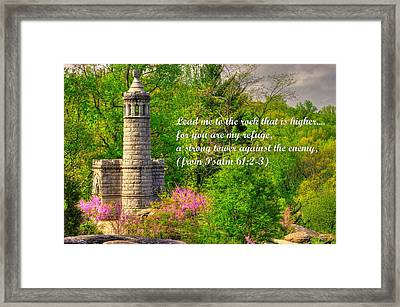 You Are My Strong Tower - From Psalm 61 Verses 2 And 3 -12th / 44th Ny Infantry Regiments Gettysburg Framed Print by Michael Mazaika