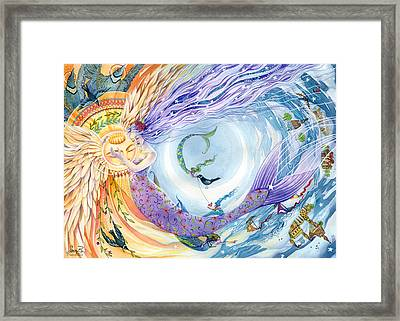You Are The Sun I Am The Moon Framed Print by Sara Burrier