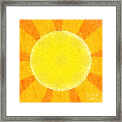 You Are The Sunshine Of My Life Framed Print by Andee Design
